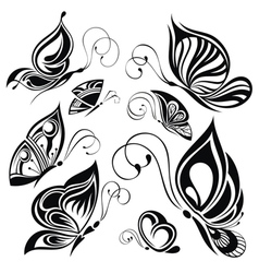 Artistic pattern with butterflies suitable for a vector image