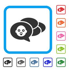 baby dreams framed icon vector image