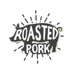 Creative logo design with pork vector image vector image