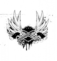 grunge insignia vector image vector image