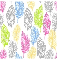 Hand drawn zentangle doodle neon colors vector image vector image