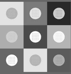 round biscuit sign grayscale version of vector image vector image