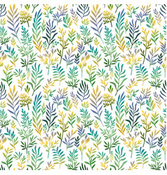 seamless pattern with color leaves vector image