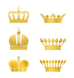 Set of Crowns vector image vector image