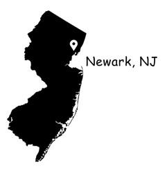 1323 newark nj on new jersey map vector image
