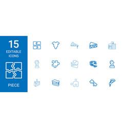15 piece icons vector