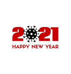 2021 happy new year greeting card with vector image