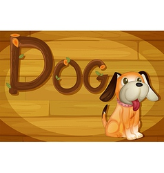 A frame with a dog vector image