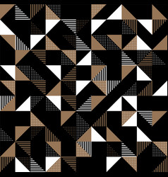 a gold and black geometric background vector image