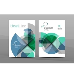 A4 business page vector image