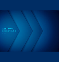 abstract 3d blue triangle with overlap paper vector image