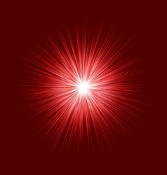 abstract red blast design on dark background vector image