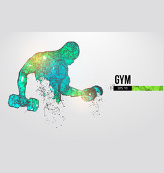Abstract silhouette a bodybuilder gym vector