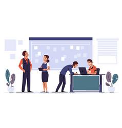 Agile task board scrum methodology teamwork vector