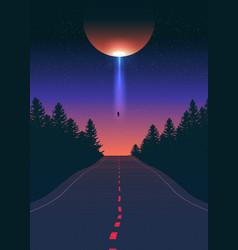alien abduction art vector image