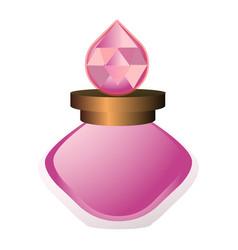 Aroma bottle icon cartoon style vector
