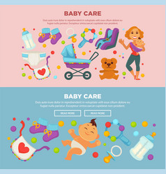 baby care and happy motherhood poster of mother vector image