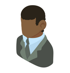 Banker african american icon isometric 3d style vector