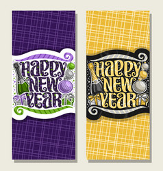 Banners for happy new year vector
