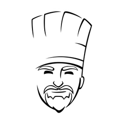 Bearded chef with a toque vector image