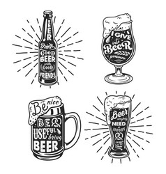 Beer related typography vector