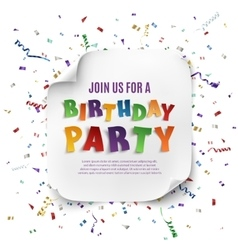 Birthday party poster template vector