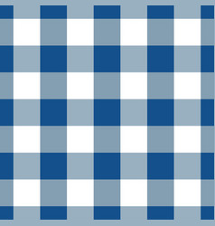 Blue And White Gingham Tablecloth Seamless Pattern Vector Image
