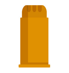 Bullet shell icon flat style vector