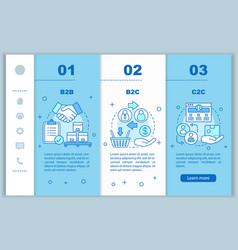 Business marketing onboarding mobile web pages vector