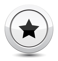 Button with star icon vector