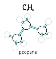 C3H8 hexamethylenetetramine molecule vector