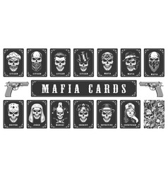 cards for mafia game vector image