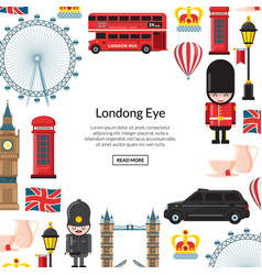 cartoon london sights england vector image