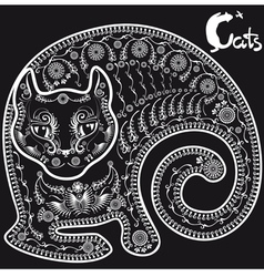 cat on black3mm vector image