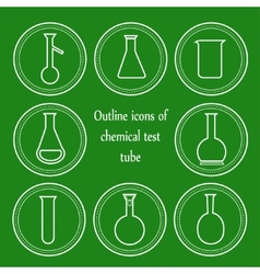 chemical outline test tube vector image
