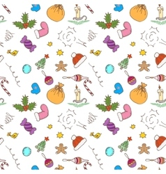 Christmas pattern background Seamless vector image