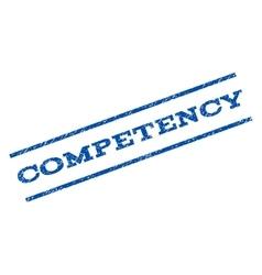Competency watermark stamp vector