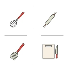 Cooking instruments icons vector image