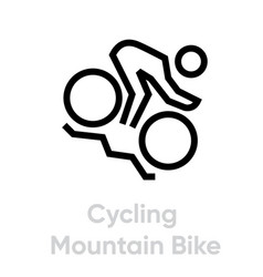 Cycling mountain bike sport icons vector