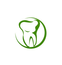 dental clinic logo unique modern effect clean icon vector image