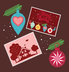 Elements for Christmas greetings vector image