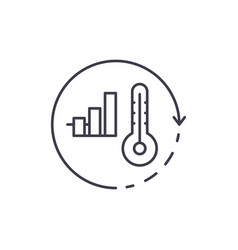 energy saving system line icon concept energy vector image