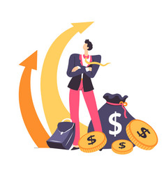 financial growth and success at work man vector image
