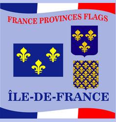 Flag french province ile de france vector