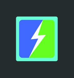 flash logo generic logotype isolated emblem vector image