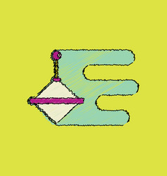 Flat shading style icon rotating whirligig vector