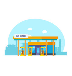 gas station appearance technical equipment vector image