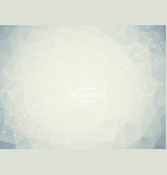 geometric white polygonal background molecule and vector image