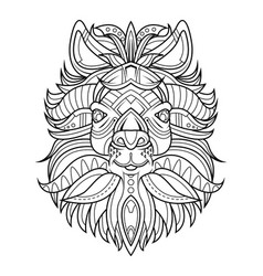 Goat head coloring page vector