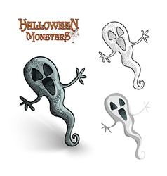 Halloween monsters spooky ghost EPS10 file vector